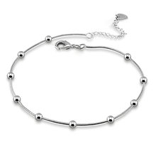 Новая мода 925 стерлингового серебра летние ножные браслеты