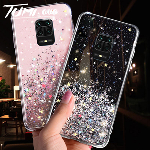 Transparent Bling Glitter Case For Xiaomi Redmi Note 9S 9 S Case Soft Clear Shining Sequin Back Cover For Redmi Note 9 Pro Case