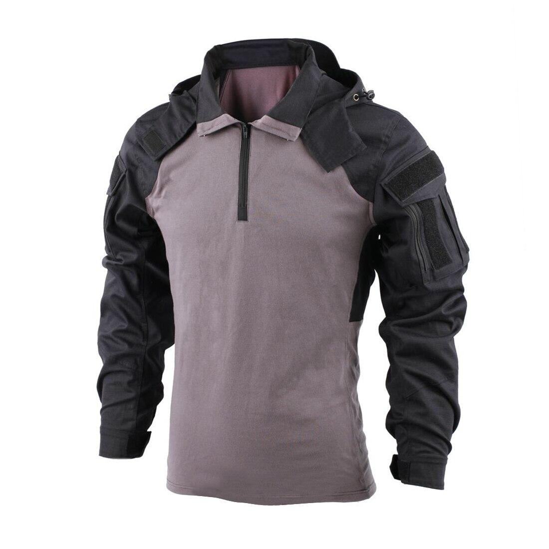 BACRAFT Tactical Shirt Combat Uniform Outdoor Equipment - SP2 Version Black Grey XXL