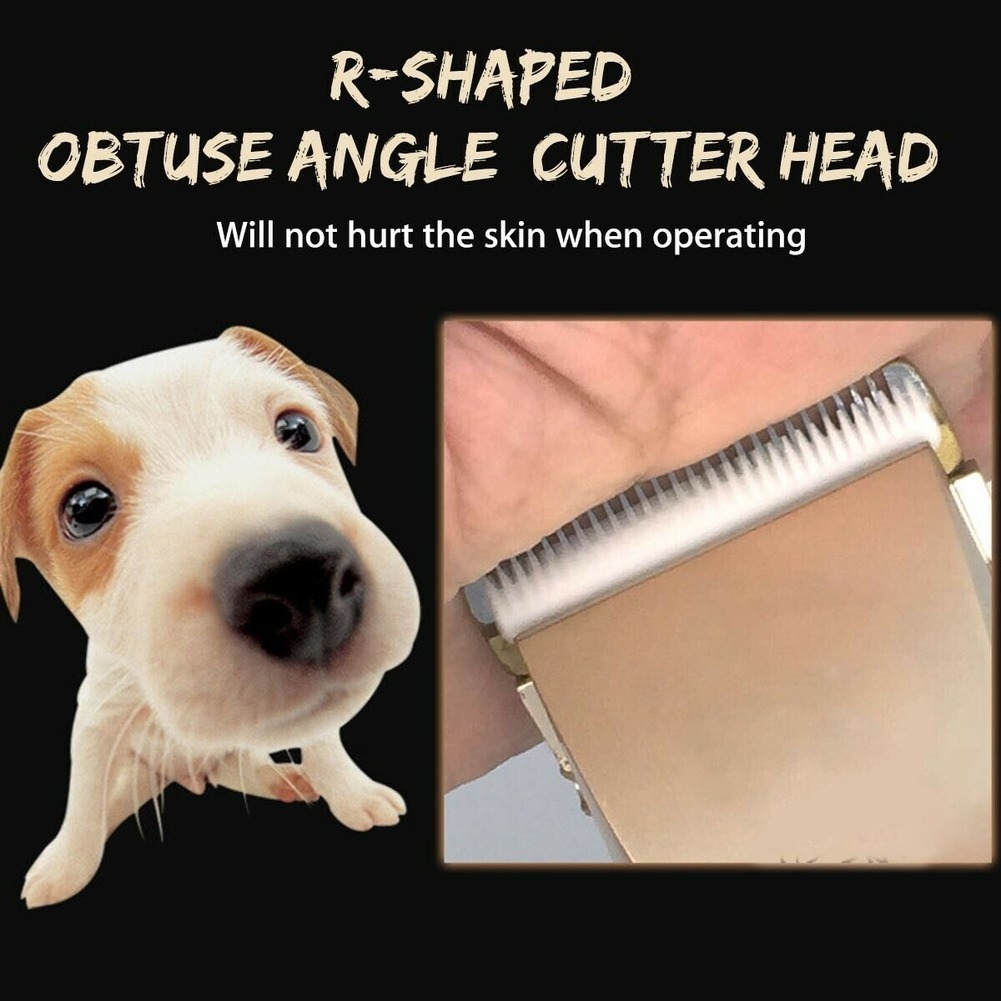 Pet Dog Hair Trimmer Electrical Cat Hair Clipper Remover Cutter Grooming Tool Rechargeable Low-noise Pets Animal Haircut Machine