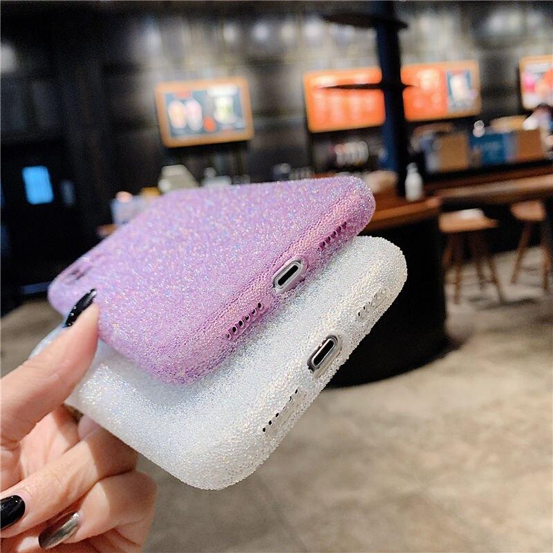 Funda de teléfono de silicona con purpurina para iPhone, funda de TPU suave a prueba de golpes, brillante, de lujo, para iPhone 12 11 Pro Max 12 Pro X XR XS Max 8 7 Plus 6