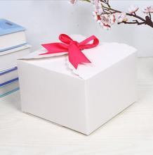 12 stuks Grote Gift Box Verpakking Papier Doos Met Lint Wit Bruin Kraft huidige doos Grote Gift Box Grote Verpakking doos voor bruiloft