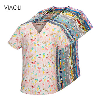 viaoli pharmacy pet hospital nurse uniform scrubs tops dentistry doctor overalls lab coat spa uniform medical surgical uniforms