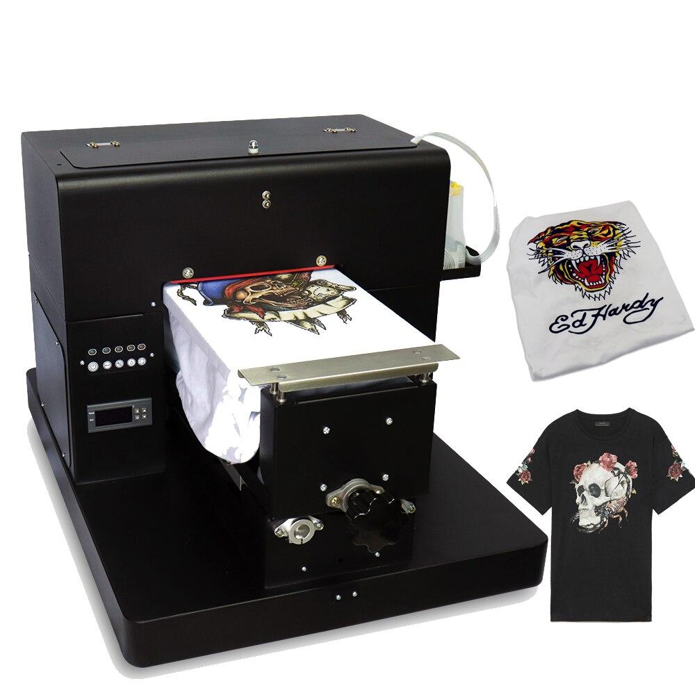 A4 планшетный принтер многоцветный Многофункциональный DTG Футболка принтер для темного и светильник печать одежды с держателем футболки