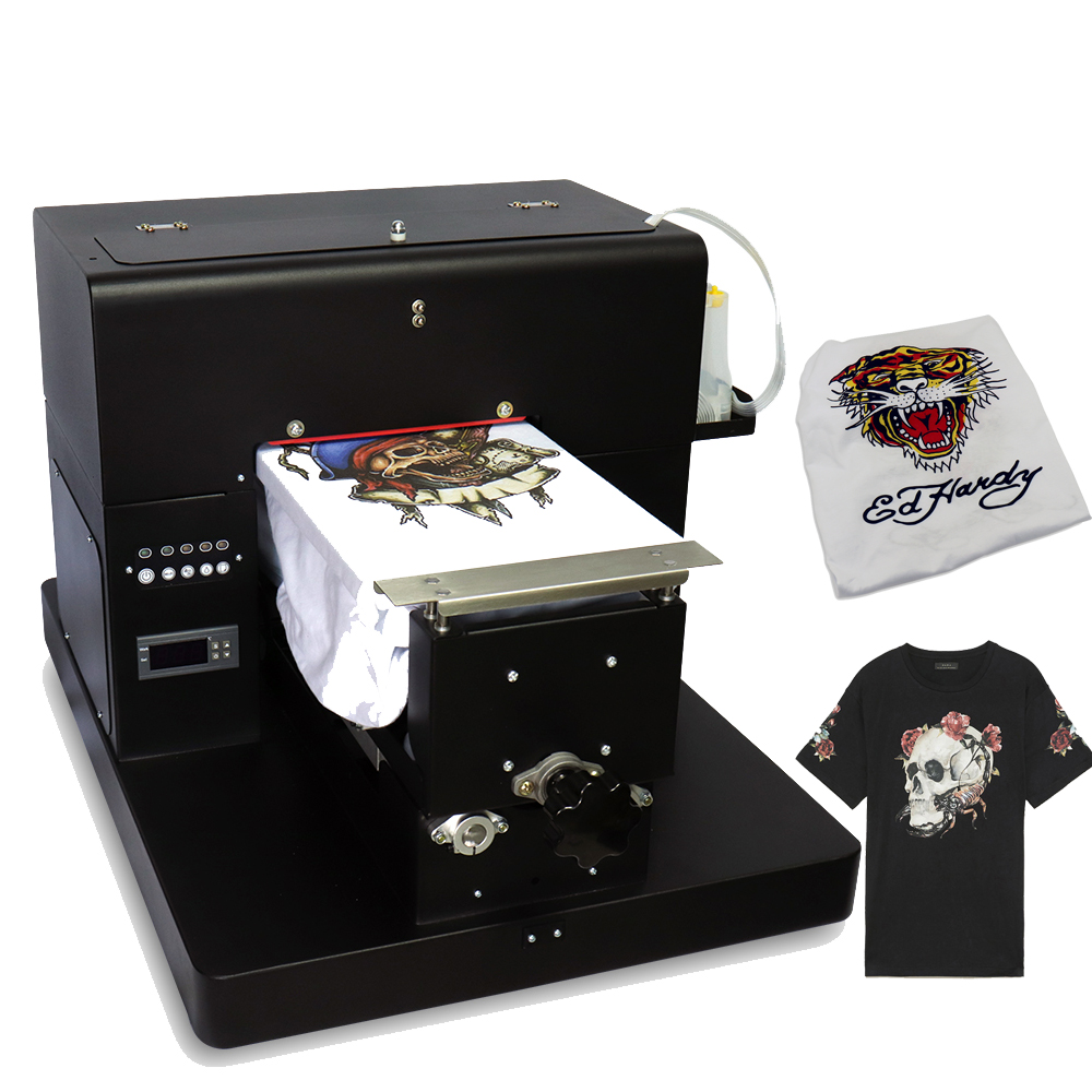 A4 Flatbed Printer Multicolor Multifunctional DTG T-Shirt Printer For Dark And Light Clothes Printing With T-Shirt Holder