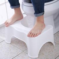 Home Squatting Stool Bathroom Squat Toilet Stool Compact Squatty Potty Stool Portable Step Seat for Home Bathroom Toilet pf10083