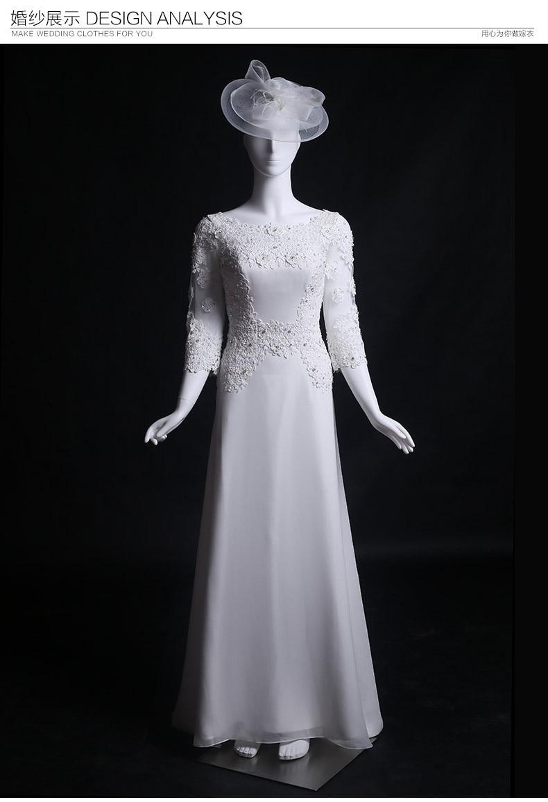 Floor Length Sleeves Lace Cheap Wedding Dress 2016 New Hot Sexy Brides Gown Appliques Vestido De Noiva Casamento Bridal Dresses