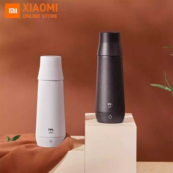 Xiaomi JMEY Smart Thermos Bottle Water Electric Heating Cup Portable Insulation Mug Car Electric Cup Travel Kettle Water Heater dmwd auto electric bottle portable car hot water heater cup travel heating kettle teapot stainless steel coffee tea mug 12v 24v