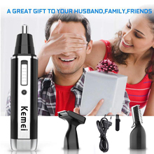 kemei 4 in 1 Rechargeable Men Electric Nose Ear Hair Trimmer