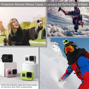 Image 5 - For GoPro 8 Accessory Soft Silicone Case Skin Protective Shell Housing Silicone Cover for Go Pro Hero 8 Black Action Camera