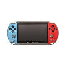 X7 4,3 zoll HD Video Spielkonsole Handheld Spiel Spieler Doppel Wippe 8GB Speicher mit 1000 Spiele MP5 Spiel controller TV Ausgang