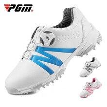 PGM обувь для гольфа для мальчиков и девочек; водонепроницаемые легкие мягкие кроссовки; детская Нескользящая повседневная обувь с шипами; D0846