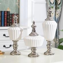 북유럽 화이트 세라믹 스토리지 인형 홈 장식 액세서리 거실 선반 웨딩 Centerpieces 세라믹 장식품