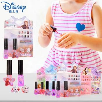 Disney Frozen 2 Elas Anna Nail Sticker Set Washable Girl Nail Polish Sticker Sofia Princess Pretend Play Toys Girls Makeup Gift let s pretend sticker activity my princess castle