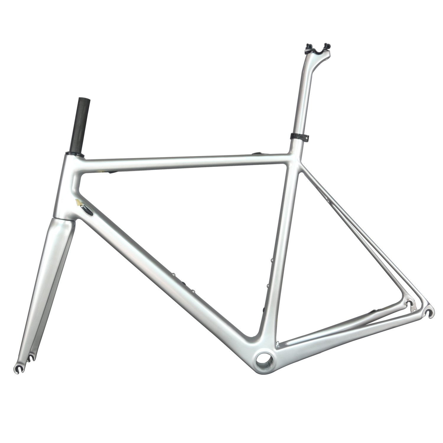 2020 Super Light Custom Painted Metallic Silver 27.2mm Seat Post BSA And BB30 Normal Brakes Carbon Road Frame FM066