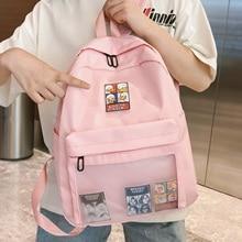 Joypessie moda feminina mochila náilon à prova dwaterproof água bonito rótulo meninas lazer bookbag feminino saco de viagem para adolescentes
