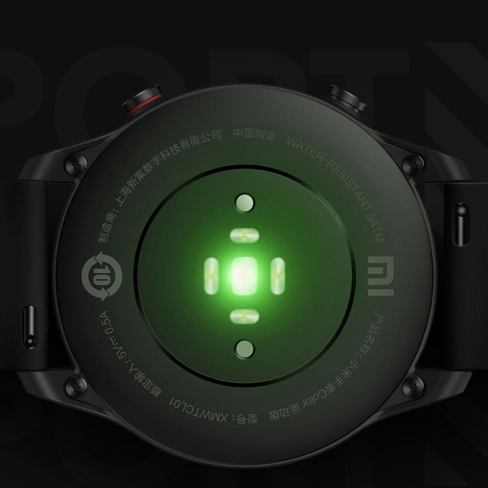 Новые цветные часы Xiaomi, модная спортивная версия, GPS, NFC, браслет, наручные часы, спортивные, Bluetooth, фитнес, пульсометр, трекер-2