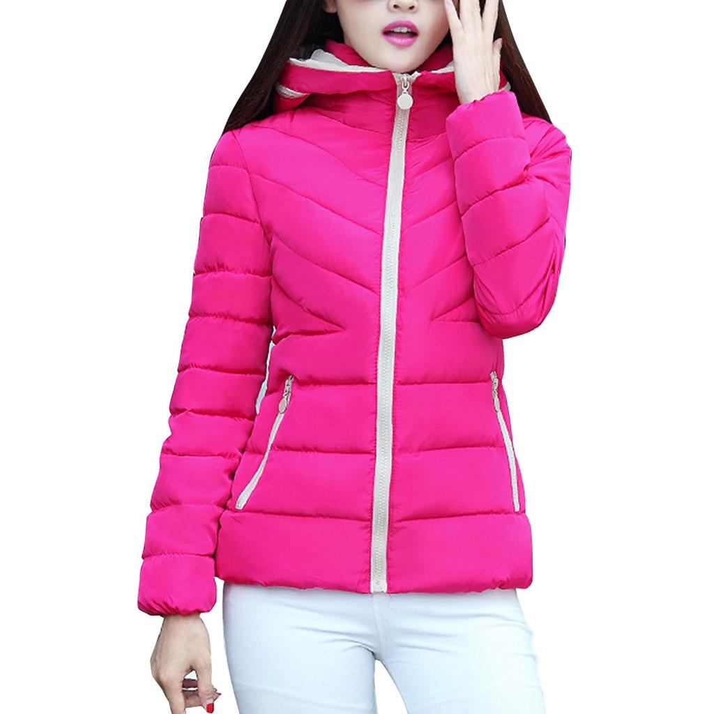 H5a86373ae9b049ea8718e51405ecd13bv fashion Women's Jackets Hooded Thickening Slim Outwear Winter Warm Casual Short Jacket Women Coat Outwear Tops
