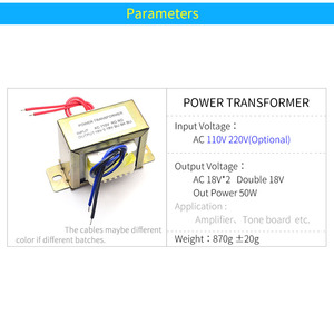 Image 5 - Unisian Ac Dual 18V 50W Transformator Input Ac 110V 220V Output Dubbele AC18V Voeding Transformator voor Amplifer Of Tone Board