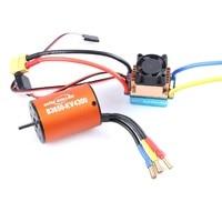 OCDAY 5-13V 320A su geçirmez 3S 60A fırçalı Motor ESC elektronik hız kontrol cihazı ve B3650 3900KV 4300KV motor için 1/10 RC araba