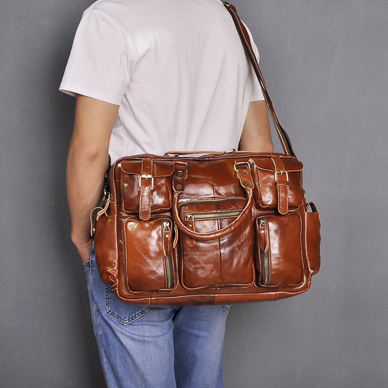 H5a867681e4bf47ebbc1fe9e4e00678d2h Original leather Men Fashion Handbag Business Briefcase Commercia Document Laptop Case Design Male Attache Portfolio Bag 3061-bu