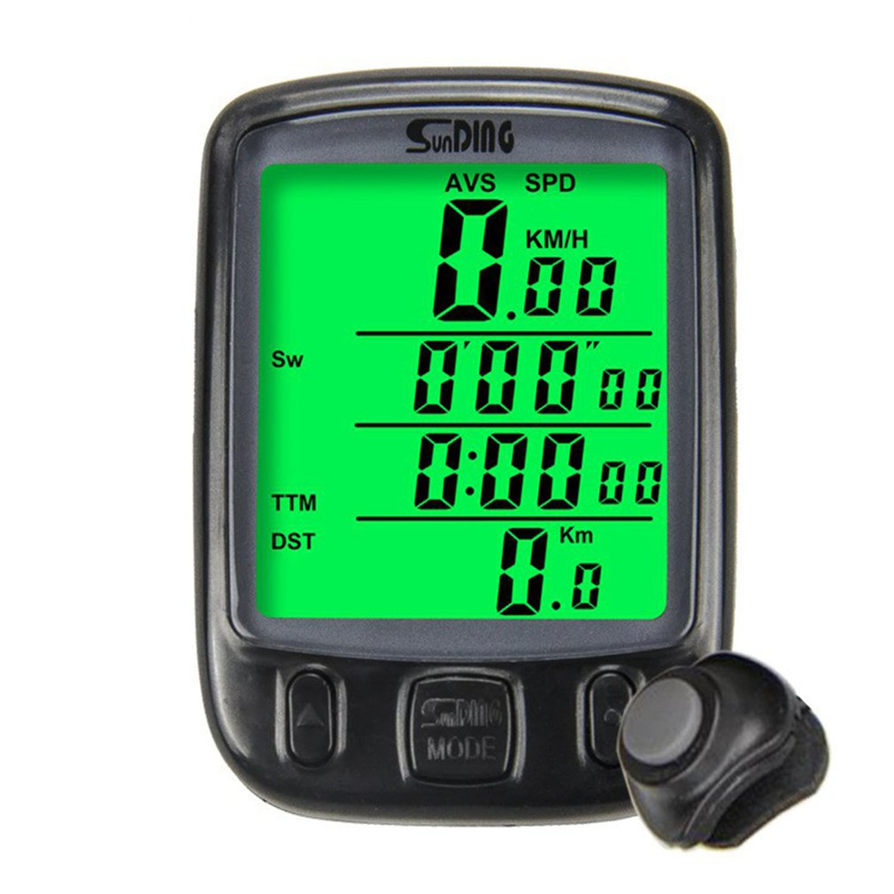 Sunding SD-563C <font><b>Bike</b></font> <font><b>Speed</b></font> <font><b>Meter</b></font> Digital Bicycle Computer Multifunctional Wireless/Wired Waterproof Sports Sensors Speedometer image