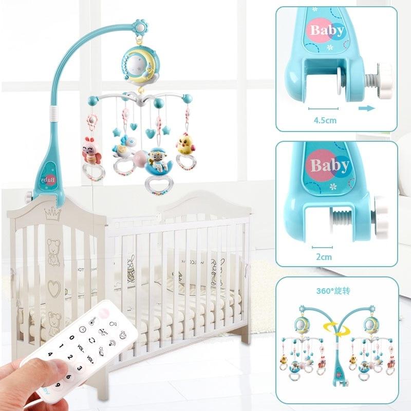 Baby Bett Glocke Rassel Spielzeug 0 18 Monate Musik Nacht Glocke Projektion Infant Komfort Spielzeug baby spielzeug - 3