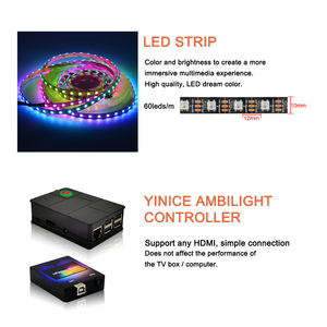 """Image 4 - Ambilight LED TV Backlights kit LED TV Ambilight effect for TV HDMI sources Dynamic ambient light RGB color for 40"""" 80"""" TV"""