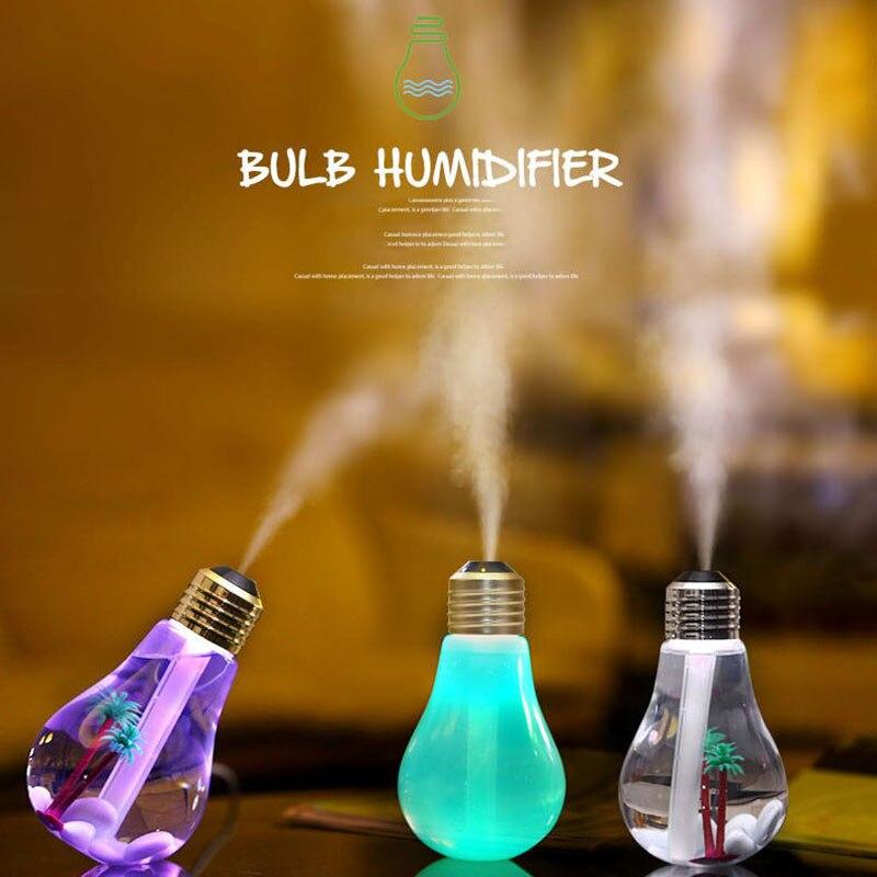 Ультразвуковой увлажнитель воздуха 400 мл светодиодный usb аромадиффузор