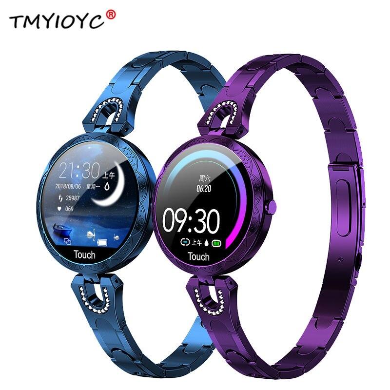 2019 Newest AK15 Smart Watch Women Luxury IP67 Waterproof Smart Band Blood Pressure Heart Rate Fitness Tracker Smart Bracelet