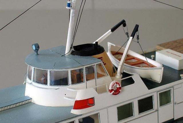 1:100 40cm Poland Ferry Ship Fine DIY 3D Paper Card Model Building Sets Construction Toys Educational Toys Military Model 4