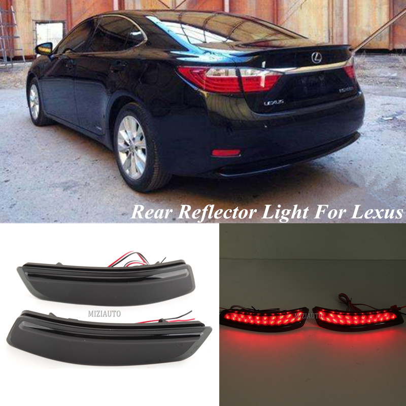 MIZIAUTO LED Rear Reflector Light For <font><b>Lexus</b></font> ES GS <font><b>250</b></font> For Toyota Corolla <font><b>2014</b></font> European version Brake bumper warning Stop Light image