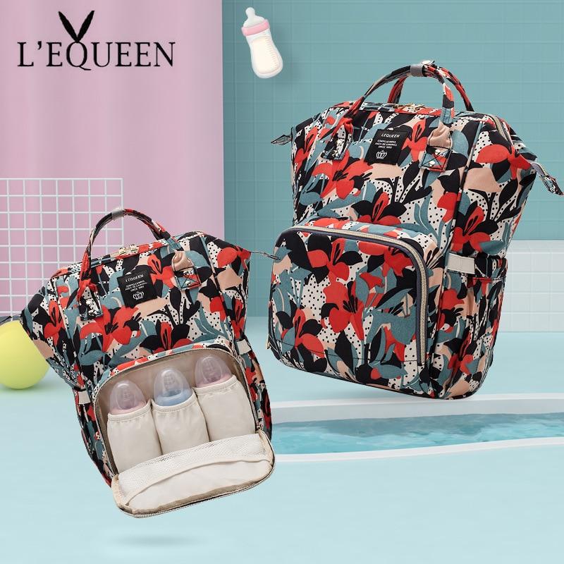 LEQUEEN Diaper Bag Baby Care Organizer  Backpack Travel Bag Waterproof Multi-Function Antifouling Backpack Stroller Nappy Bag