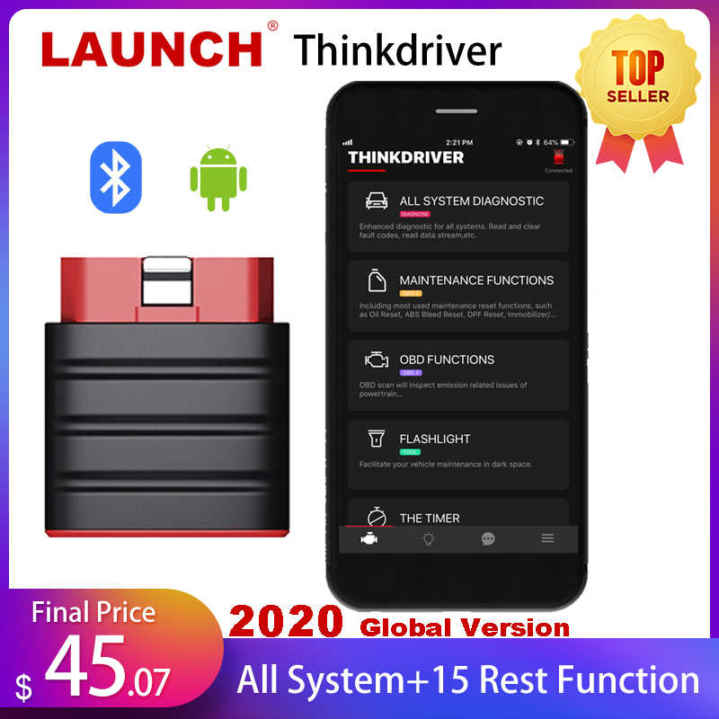 Launch Thinkdriver Bluetooth OBD2 Scanner Automotive Obd 2 Ios Auto Diagnostische Code Reader Obd Android Scanner Easydiag 4.0 Pk Thinkdiag AP200