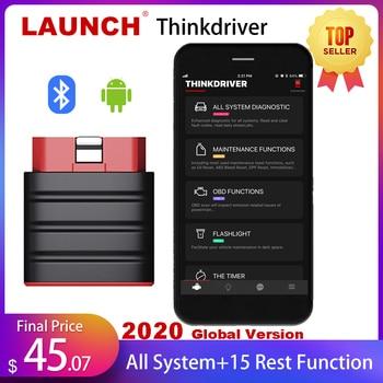 цена на LAUNCH Thinkdriver Bluetooth OBD2 Scanner Automotive OBD 2 IOS Car Diagnostic Code Reader OBD Android Scanner PK Thinkdiag AP200