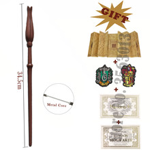 Волшебная палочка Luna Lovegod с картой Гарри мародера, 2 билета, надписи гриффиндо слизерии в подарок, без коробки
