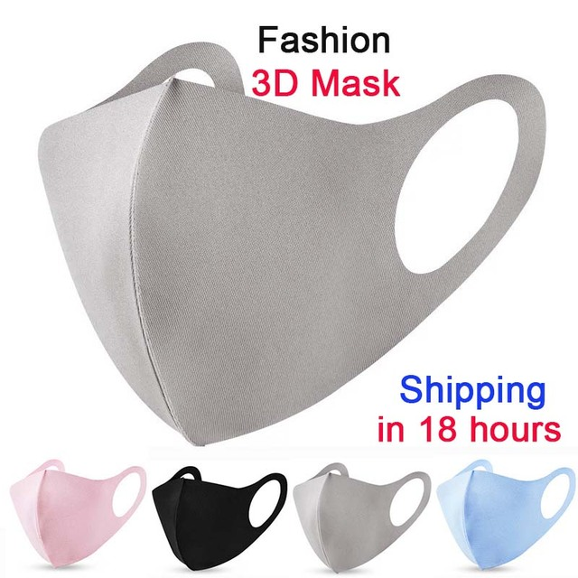 Kpop Cotton Black Mask Ice Silk Cotton mouth face Mask Anti dust Mouth Mask korean Mask Fabric Face Mask masque reutilizable