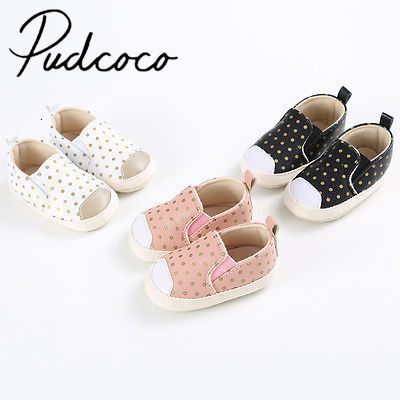 Pudcoco Baby Girl Boys Soft Pu Leather Shoes Toddle Infant Anti-slip Prewalker 0-18m