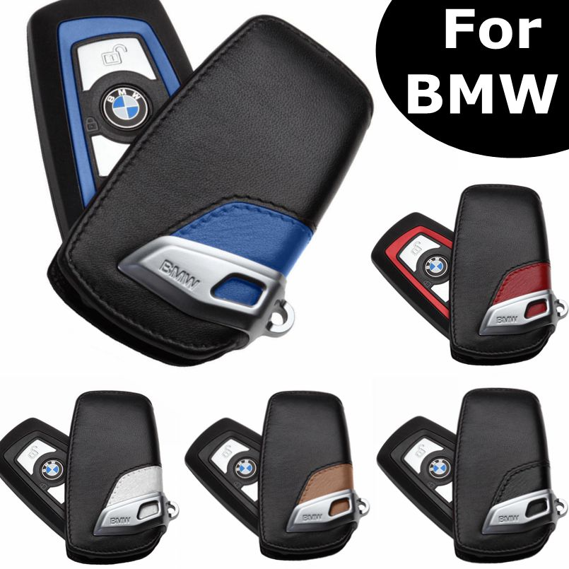 1Pcs Sport Line Leather Key Fob Holder Bag Case Cover Fit For BMW 2 3 5 Series X3 X5