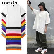 LENSTID Harajuku Plain T Hemd 2020 Sommer 100% Baumwolle Männer Weiß T shirt Streetwear Casual Grundlegende Kurzarm T Shirts Tops Tees