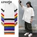 LENSTID Harajuku Plain T Hemd 2021 Sommer 100% Baumwolle Männer Weiß T-shirt Streetwear Casual Grundlegende Kurzarm T-Shirts Tops Tees