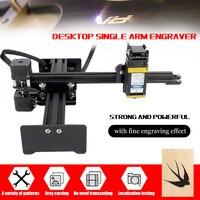 110 240V Desktop Single Arm Engraver Portable DIY Engraving Carving Machine Mini Carver 10W laser cnc laser engraving machine