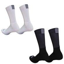 Новые силиконовые Нескользящие бесшовные велосипедные носки Мужские Pro Aero дышащие износостойкие дорожные велосипедные носки Calcetines Ciclismo