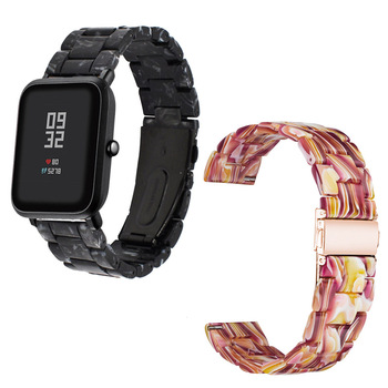 Resin Strap For Xiaomi Huami Amazfit Bip GTS GTR 47mm/42mm Stratos 3/2/2s Bracelet Watchband 20mm/22mm Replacement Wristband