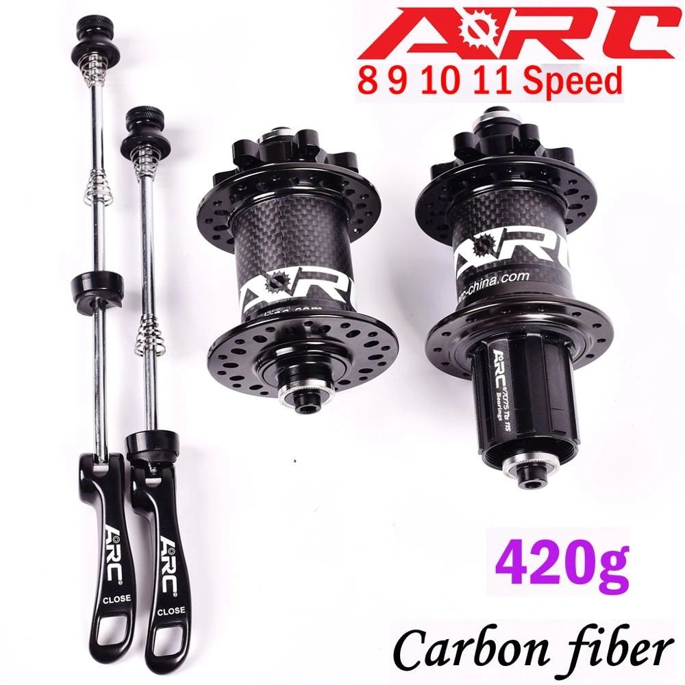 ARC 32H Carbon Fiber MTB <font><b>Hub</b></font> Mountain bike <font><b>hubs</b></font> 4 bearing 6 Pawls 114 Click 8 9 10 11 speed <font><b>bicycle</b></font> <font><b>hub</b></font> 135*10MM 142*12MM image