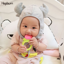 Hepburn Brand Cotton Children Hats Kids Horns Baby Girl/Boy Winter Soft Warm Wool Knitted Beanie Newborn Cap