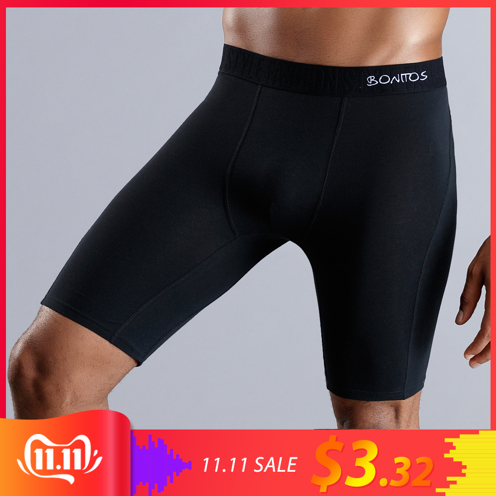 Long Men Boxer Underwear Men Underware Boxer Shorts Mens Cotton Long Leg Boxers Underpants For Brand Quality Sexy Pouch Panties