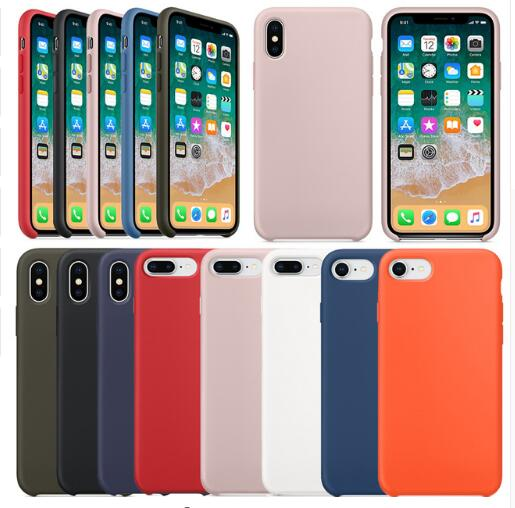 Good Liquid Silicone Solid Case for IPhone 11 X XS MAX XR 11pro Case for IPhone 7 6s 8 Plus Soft Tpu Back Cover Fundas(China)
