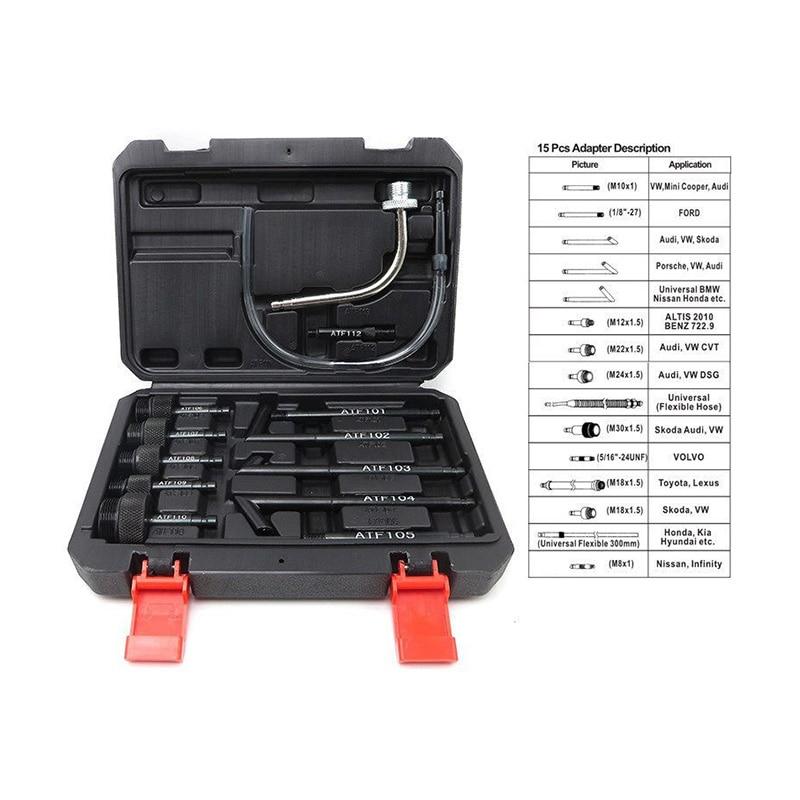13pcs Atf Transmission Filling Adapter Set  Change Machine Fuel Dispenser Pumping Oil Changer Gearbox Oil Filler Tool Joint