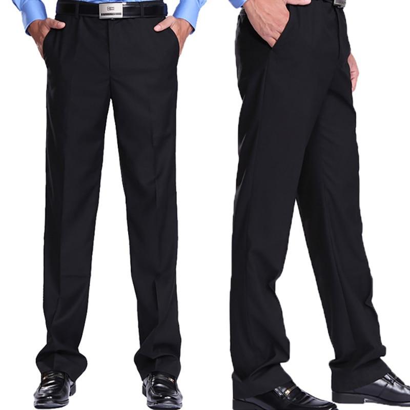 Men's Suit Pants High Quality Men Dress Pants New Trousers Straight Business Mens Formal Pants Plus Size Thin Office Dress Pants